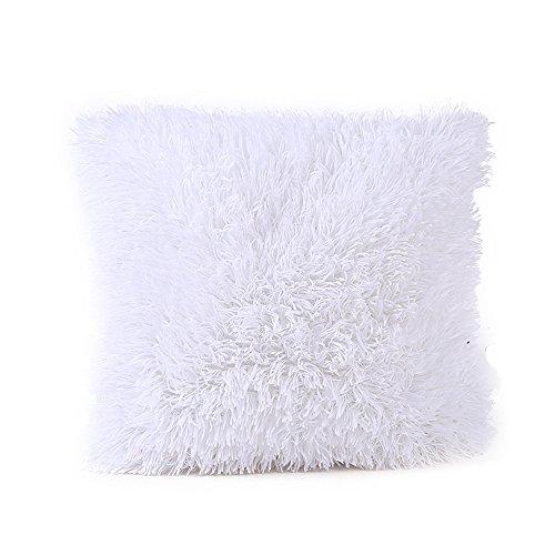 HUYURI Einfarbig Weichem Plüsch Kissenbezug Sofa Taille Wurf Kissenbezug Wohnkultur