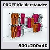 raff 300x200x40 Profi KLEIDERSTÄNDER WANDSTÄNDER WANDREGAL Regal KLEIDERSTANGE-P300N
