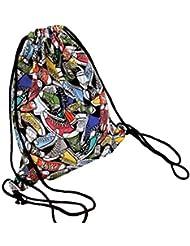 Diossad Mochila de Cordón Bolsa de Compras de Lona Bolsas de Deporte Bolsa de Deporte Cinch Sack para Hombres y Mujeres