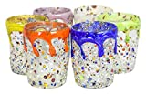 BICCHIERI RIALTO ACQUA Wassergläser Originale Murano Glas Blattsilber 925 Handgemach Venedig