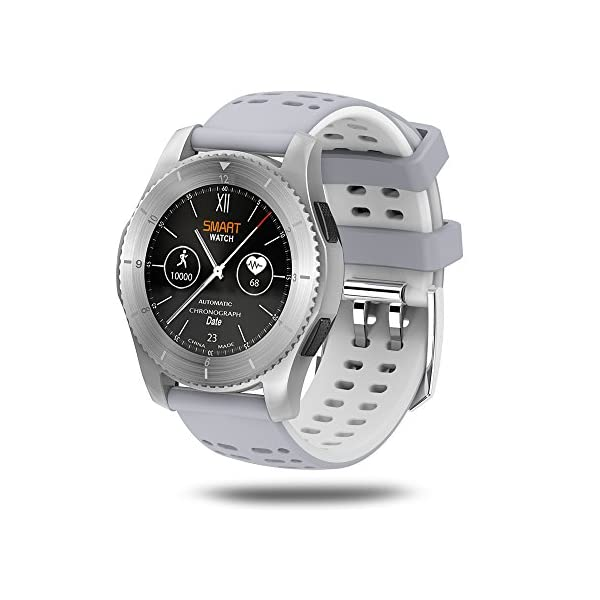 Lixada Smartwatch BT 40 SIM Call Message Push Blood Pressure Heart Rate Monitor Smart Watches For Android IOS Smartphone