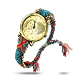 Souljewelry Reloj de Pulsera Personalizado con Foto Reloj Cuarzocon Correa Tejida Regalo para Novia,Amiga, Hermanas Clásico