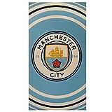 Manchester City FC Large Velour Beach Towel Brand New 140cm X 70cm Cotton PL