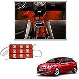 Vheelocityin 9 Led Custom Cuttable Car Red Light For Interior/ Exterior For Hyundai I20 Elite