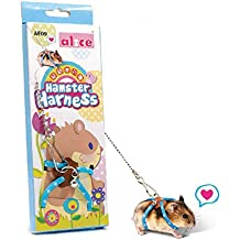 Arnés de hámster de rata de animales pequeños y correa para caminar Cable de hámster ajustable Azul