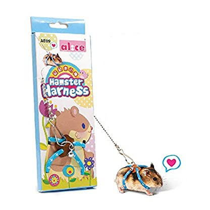 Adjustable Harness Vest and Leash Set Leads for Pet Dwarf Hamster Gerbil Rat Mouse Ferret Chinchillas Squirrel Small… 1
