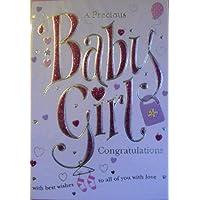 Congratulations Baby Girl card–a precious Baby Girl