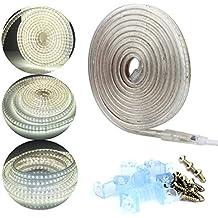 ALED LIGHT® Striscia LED 220V IP65 Imperable 5050 5M 300LEDs SMD Bianco Freddo. - Amplificatore Di Alimentazione Di Progettazione