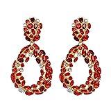 Dobbi Diamant Haute qualité Clous d'Oreilles Femme Fashion Ovale Boucles d'Oreilles Pendantes Etincelantes Simple Stud Earring