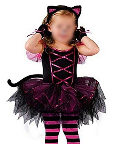 Scothen Mädchen Cosplay Fledermaus Halloween-Party Fantasie-Kostüm Fleece-Overall Halloween Kostüm Fledermausflügel Kinder Fledermaus Flügel Halloween Tutu Kostüm Accessoire Karnevalskostüme (Fledermaus Hund Kostüme)