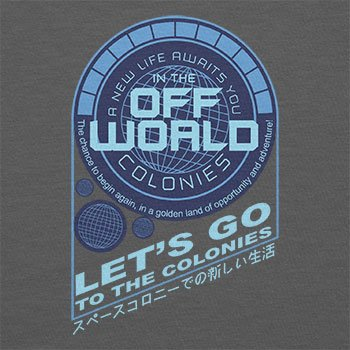 TEXLAB - Off World Colonies - Herren T-Shirt Grau