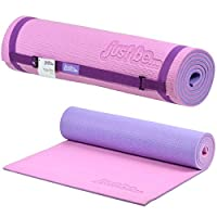 just be............® 10mm Thick 2-Tone Exercise Yoga Mat - 180cm - 10mm Foam with Colour Coded Carry Strap