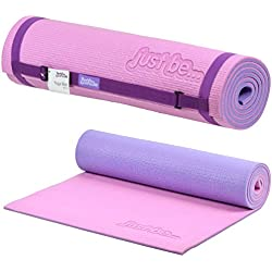 Just be.® Esterilla Yoga - 180cm - Espuma de 10mm de Grosor - Rosa/Morada