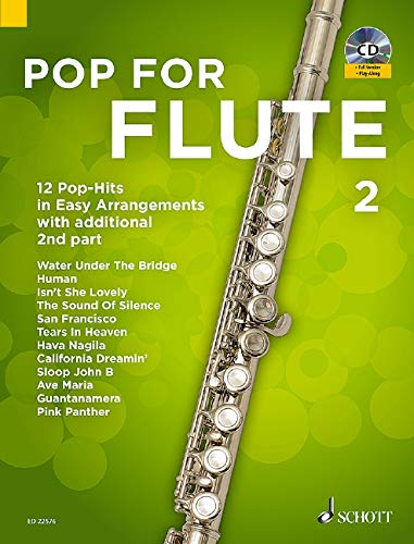Pop For Flute 2: 12 Pop-Hits in Easy Arrangements with additional 2nd part. Band 2. 1-2 Flöten. Ausgabe mit CD.
