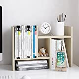 Jerry & Maggie–Desktop Organizer Büro Aufbewahrung Rack verstellbar Holz Display Regal–Free Style Double H Display–True Natural Ständer Regal White Wood Tone