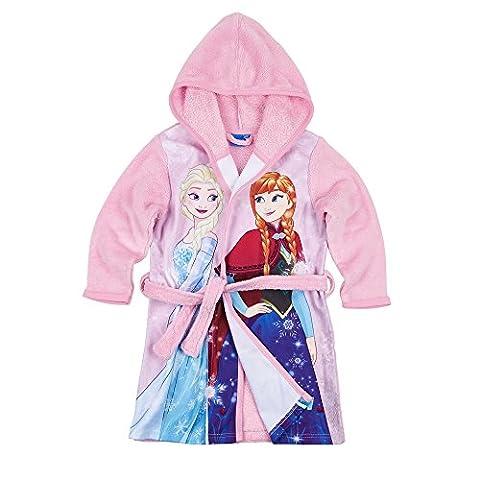 Disney Die Eiskönigin Elsa & Anna Mädchen Coral fleece Bademantel mit Kapuze - rosa - 98