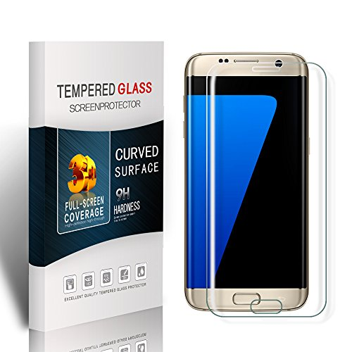 Price comparison product image Soyion Galaxy S7 Edge Glass Screen Protector ,Galaxy S7 Edge Tempered Glass Screen Protector,Screen Protector Film for Samsung Galaxy S7 Edge