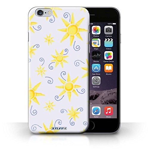 Kobalt® Imprimé Etui / Coque pour iPhone 6+/Plus 5.5 / Vert/Blanc conception / Série Motif Soleil Jaune/Blanc