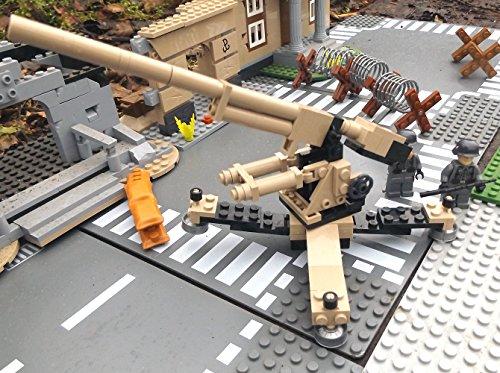 Modbrix 2367- ☠ Deutsche Achtacht Flak Stellung inkl. Custom Elite Wehrmacht Soldaten aus Lego© Teilen ☠ - 3