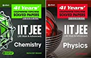41 Year's Physics and Chemistry Combo Bundle (Chapterwise Topicwise Solved Papers ) for Jee Mains and Adva