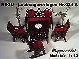 REGU-Laubsägevorlage Puppenmöbel - Set Nr. 024 A 1:12