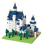 nanoblock NBH-010 - Schloss Neuschwanstein, Minibaustein 3D-Puzzle, Sights to See Serie, 550 Teile, Schwierigkeitsstufe 3, schwer