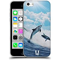 Head Case Designs Happy Surfing Dolphins Wildlife Soft Gel Back Case Cover for Apple iPhone 5c - Surfing Dolphins