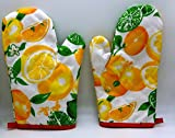 #7: Perfect Buy™ Microwave Cotton Gloves (Set of 2) Heat proof, best quality, Machine washable, Safely remove hot dishes from the oven (Multicolor)