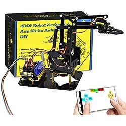 KEYESTUDIO Juego de Brazo robótico mecánico para Arduino UNO R3, Accesorio Educativo de Bricolaje