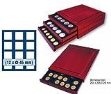 SAFE 6845 ECHTHOLZ MÜNZBOX NOVA EXQUISITE 12 x 45 mm ECKIGE FÄCHER - IDEAL FÜR MEAPLE LEAF - 5 MARK DT. KAISERREICH IN MÜNZKAPSELN BIS CAPS 39 & FÜR MÜNZEN BIS 45 mm & - MÜNZBOXEN - MÜNZELEMENTE -
