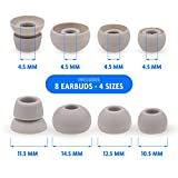 MMOBIEL Silicone Ear Tips Earbuds Buds Set for Powerbeats 2/3 Monsterbeats Wireless beats by Dre headphones 4 Pairs (Grey)