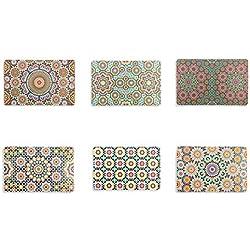 Villa d'Este Home - Tivoli Marrakech, Juego de 6manteles Individuales, 44x 28x 0,1cm, 6Unidades