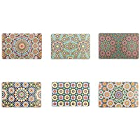 Villa d'Este Home Tivoli Marrakech Lot de 6 Sets de Table, Multicolore, 44 x 28 x 0,1 cm