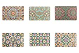 Villa d 'Este Home Tivoli Marrakesch Set mit 6 Platzsets, Mehrfarbig, 44x 28x 0,1cm, 6Stück