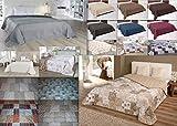 MB Warenhandel24 XXL Tagesdecke Allzweckdecke ca. 220x240 Patchwork Landhaus Sofa Bettüberwurf Beige Flieder Terra Schoko (ca. 220x240 cm, Anthrazit mit Rautensteppung)