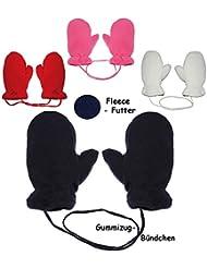 """Fausthandschuhe - MERINO-Wolle Strick & Fleece - """" WUNSCHFARBE """" - Größe: 9 Monate bis 3 Jahre - Baumwolle & Schurwolle - mit extra Daumen - Kinder / Baby - gefüttert - Fleece Fäustlinge - Babyhandschuhe - Erstlingshandschuhe / Däumlinge - Fausthandschuh Handschuh Fäustling - KratzFäustlinge / Mädchen Jungen"""