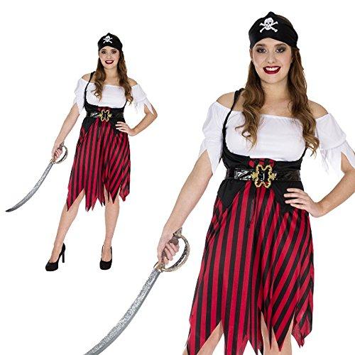 Seemannsbraut Seeräuberin Königin der Meere Kostüm Damen (Erwachsene Königin Der Meere Kostüme)