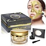 ALIVER Gold Mineral Magnetic Sea Mud Face Mask Deep Skin Cleanser,Pore Reducer & Help Clean Acne,Blackhead & Oil Skin (50 ML/1.76 fl. oz)