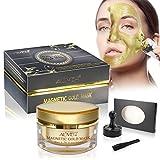 Aliver Mineral-Magnetmaske, 50 ml, Goldfarben, für eine gründliche Reinigung der Haut, reduziert Poren, bekämpft Akne, schwarze Punkte und fettige Haut, 50 ml