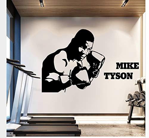 85X130 Große Größe Mike Tyson Boxen Kampfsport Entfernbare Wandaufkleber Kunst Aufkleber Boy Room Decor