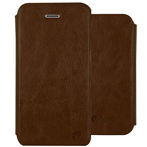 Heartly Premium Luxury Royal PU Leather Bumper Flip Case Cover For Apple iPhone 4 4S 4G - Brown  available at amazon for Rs.279