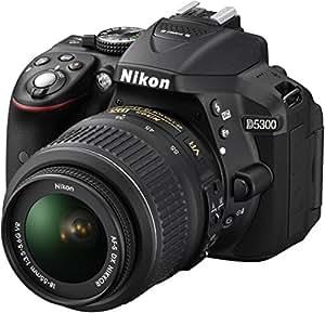 Nikon D5300 Appareil photo numérique Réflex 24,2 Mpix Kit Objectif AF-S 18-55 mm VR Noir