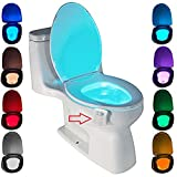 LED toilettenlicht, ZSZT Motion Sensor wc nachtlicht Batteriebetriebenes Toilettenlicht...