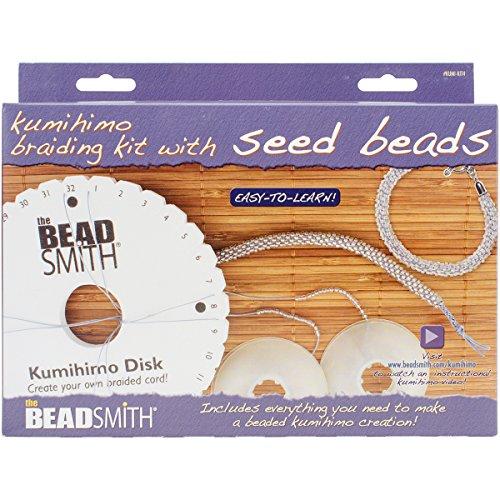 BeadSmith Kumihimo Starter Kit Samen Perlen, Acryl, mehrfarbig