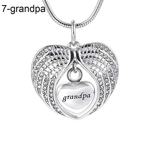 Halskette, Geschenke für Mütter, Frauen, Mädchen, Modeschmuck, Vater, Mutter, Sohn, Strass, eingelegte Flügel, Herz Schlüsselbeinkette, Geschenk – Onkel, ()