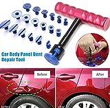 Sguan-wu T-Bar Abzieher mit 18 Dent Glue Tabs Autolackfreier Dent Repair Hagelentfernungssatz
