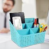 #2: Kurtzy Multi-Segment Hollow Storage Basket Box Organizer Container Kitchen Bathroom Office 19X14X14CM Assorted colors