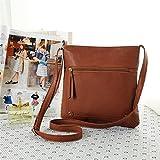 Yuan Womens Leather Cross Body Shoulder Messenger Satchel Bag