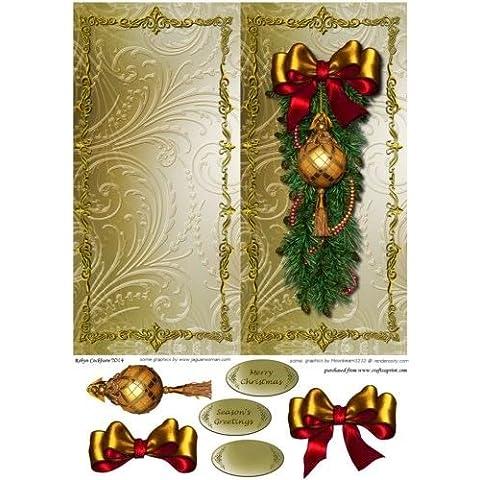 Ornamento de la Navidad de oro DL rápida Tarjeta de Robyn Cockburn