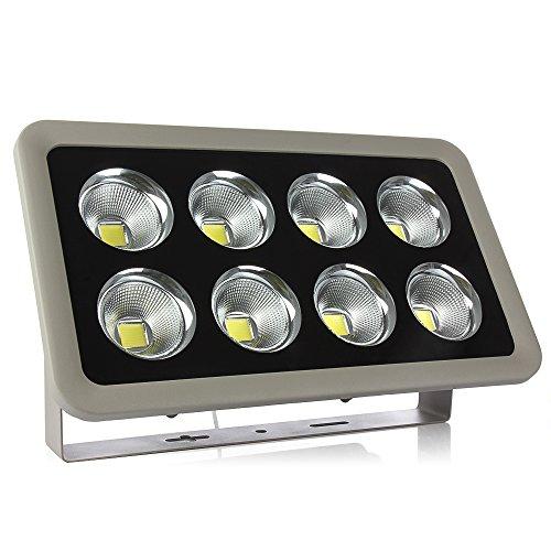 LED Fluter Flutlicht Strahler COB 400W 40000 Lumen IP66 wasserfest 3000-3500K Warmweißes Licht für Innen- und Außenbereich (3500 Lumen Led-licht)